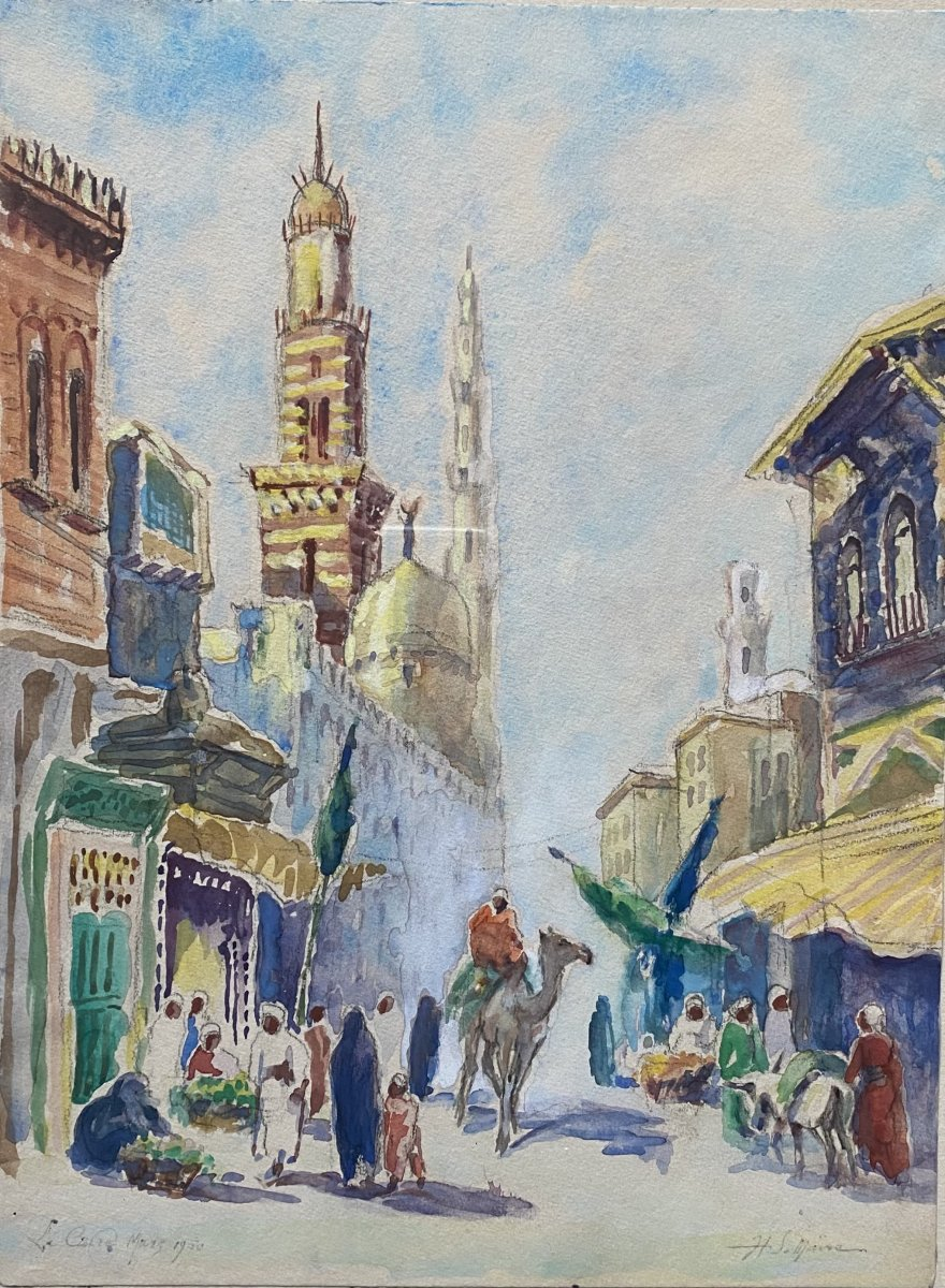 Pair Of Orientalist Watercolors