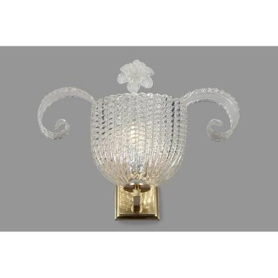 Pair Of Murano Glass Sconces