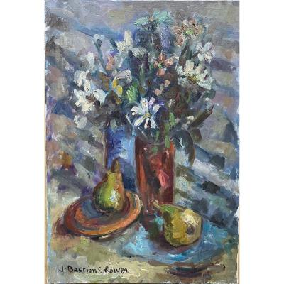 Jacqueline Bastien Sclower Oil. Still Life