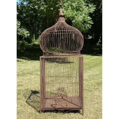 Wrought Iron Parrot Cage