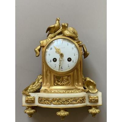 Gilt Bronze Clock  Louis XVI