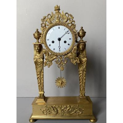 "Empire Clock ""aux Cariatides"""