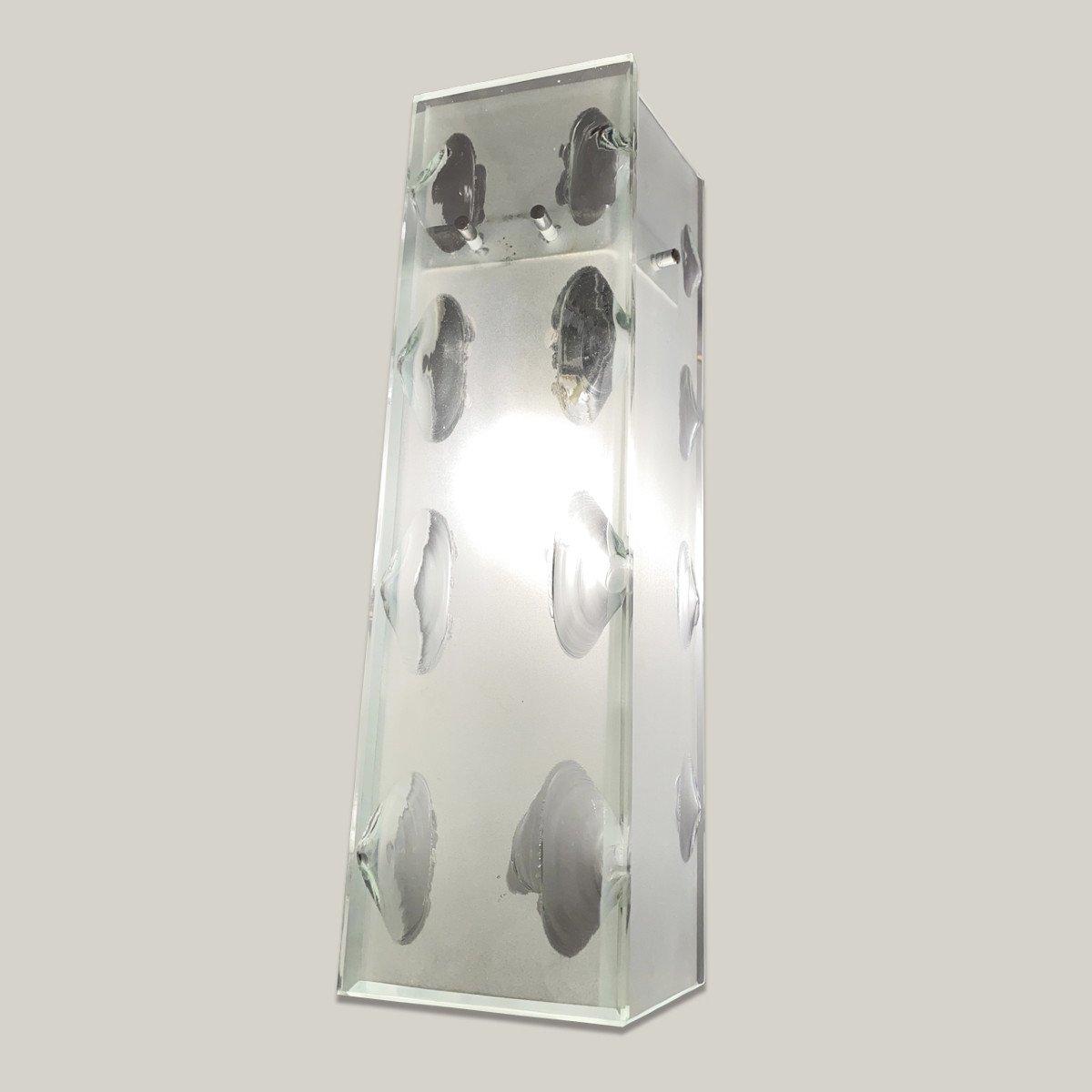 Suite Of 4 Glass Sconces, Circa 1960-photo-2