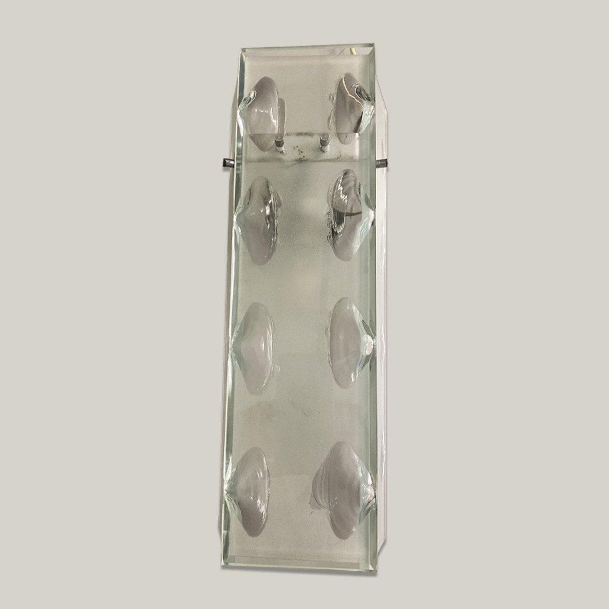 Suite Of 4 Glass Sconces, Circa 1960-photo-3