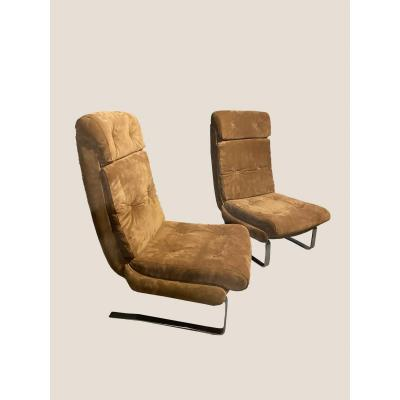 Pair Of Fireside Chairs 1970