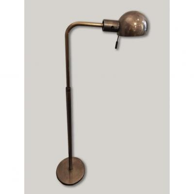 Modular Height Reading Light In Patinated Brass Medal Color