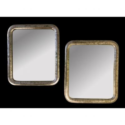 Pair Of Mirrors Art Deco Period