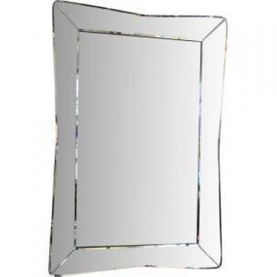 Mirror With Curved And Curved Edges, Circa 1950