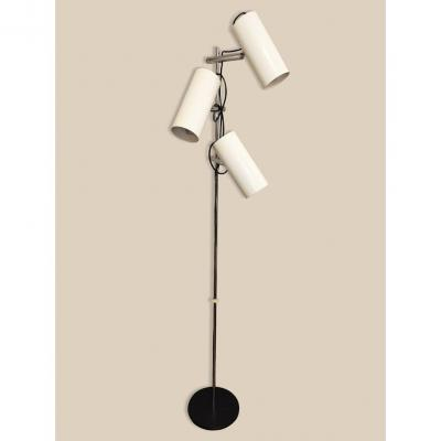 Floor Lamp With 3 Adjustable Sconces, Circa 1970