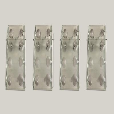 Suite Of 4 Glass Sconces, Circa 1960