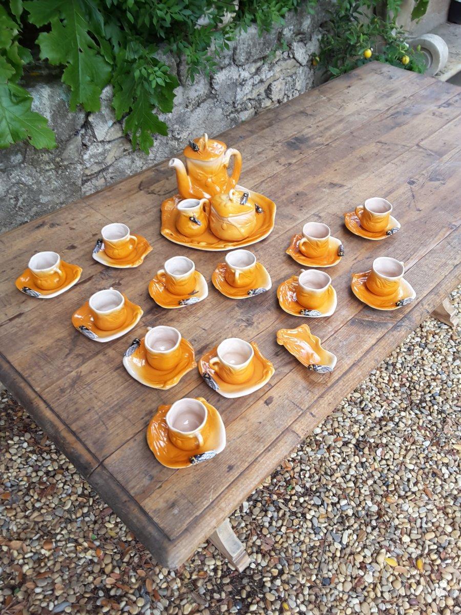 Louis Sicard : Service à Café à Décor De Cigale