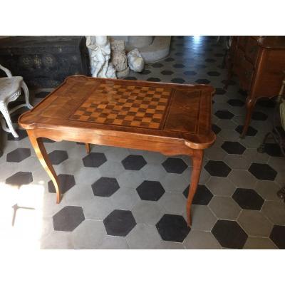 Table Tric Trac En Noyer d'époque Louis XV