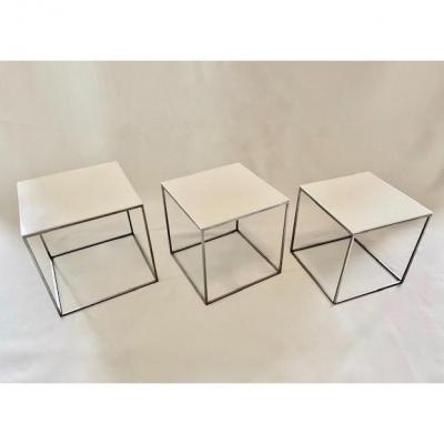 Tables Basses Gigognes Pk71 De Poul Kjaerholm 1960