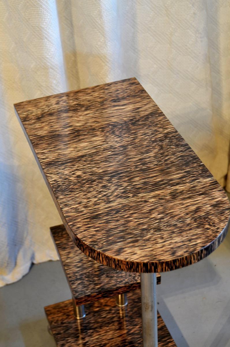 End Of Sofa Art Deco Palm Wood