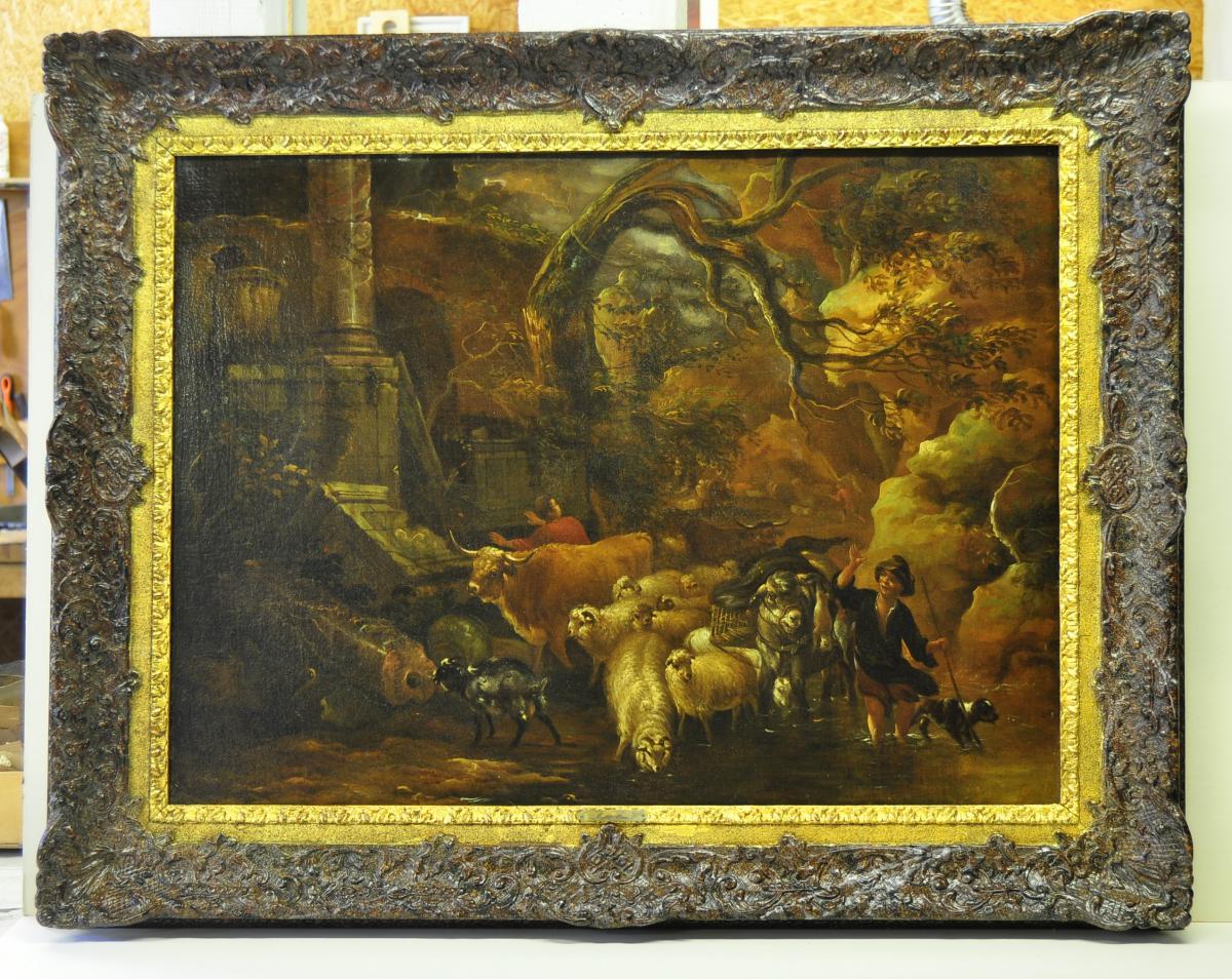 Michiel Carré, 1657-1727, Jeune berger et troupeau