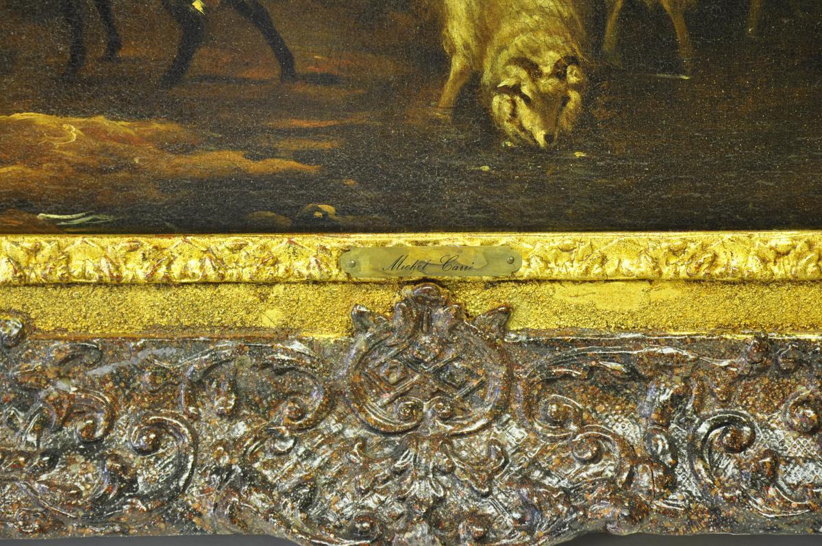 Michiel Carré, 1657-1727, Jeune berger et troupeau-photo-1