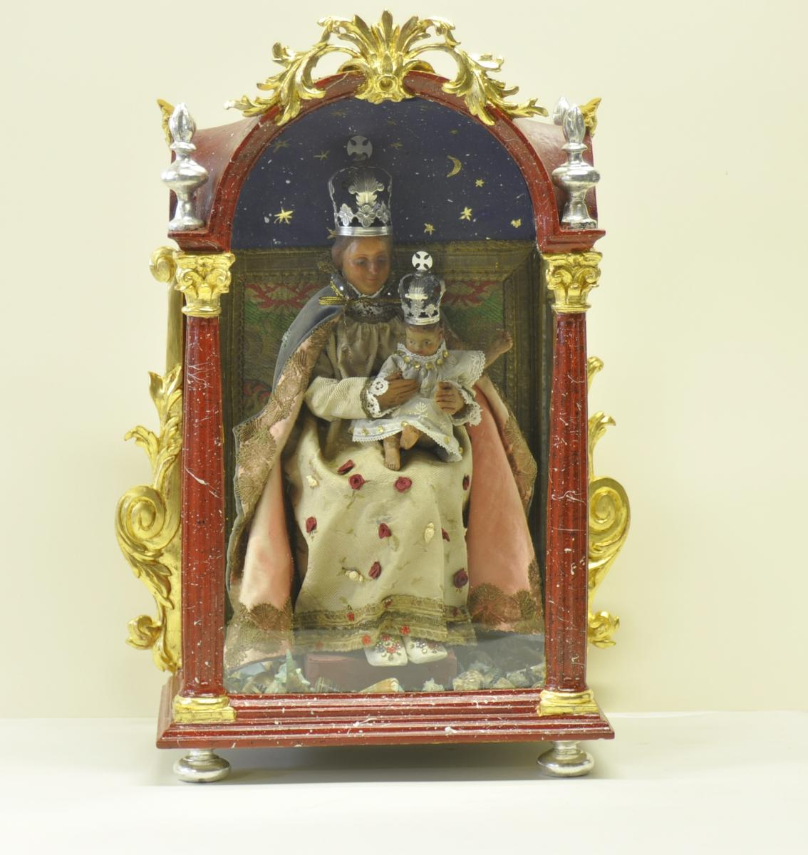 Virgin And Child, Oratory Coaster, Germany Or Alsace, XVIII