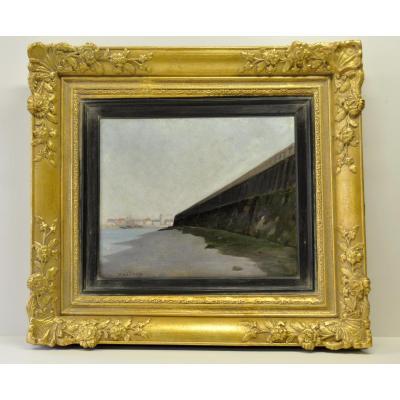 Henri Le Sidaner, Dunkerque, La Jetée, Marée Basse