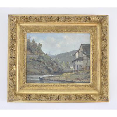 Gustave Mascart , Hst, Paysage Au Moulin, Vosges, Vers 1900.