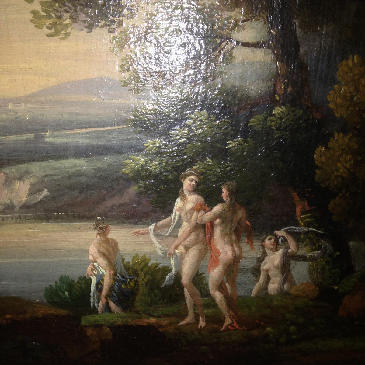 Paire De Tableaux, Huiles Sur Toile De La Fin Du XVIIIème Siècle, Dans Le Goût De Hubert Robert