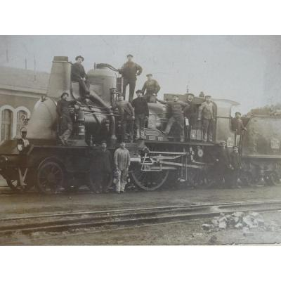 Photo Ancienne De Locomotive