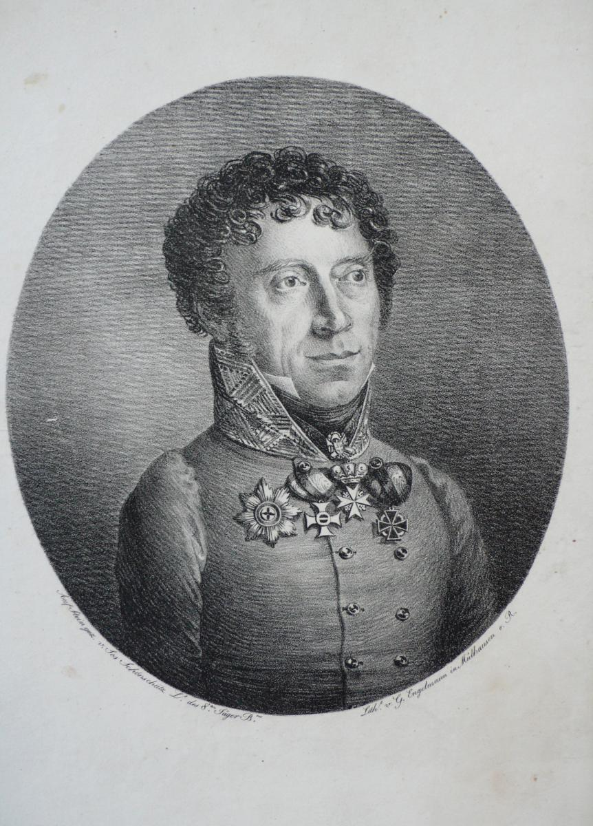 G.Engelmann Portrait De Jos Schönschütz Lithographie