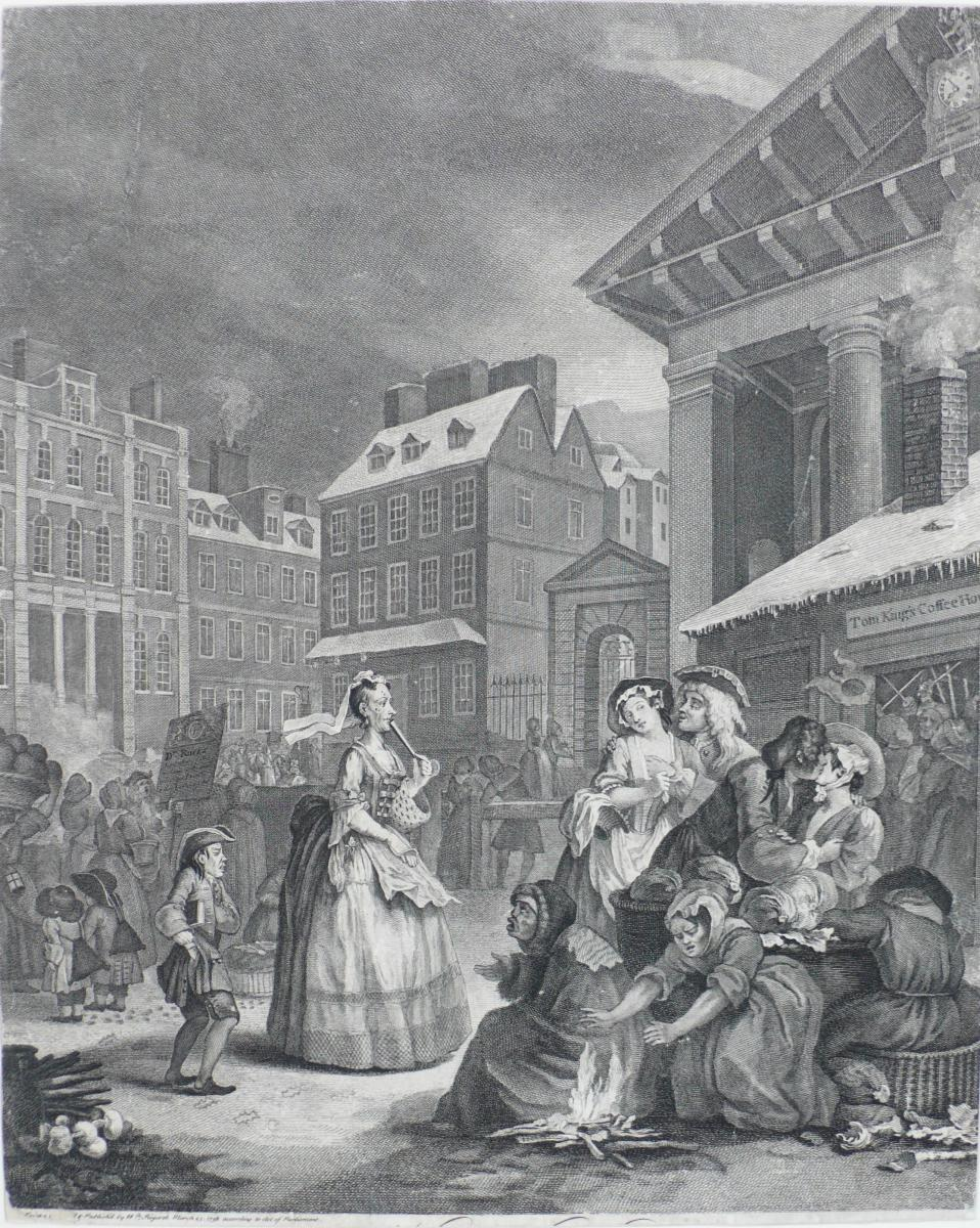 Gravure Etching Morning After Hogarth William Old Print