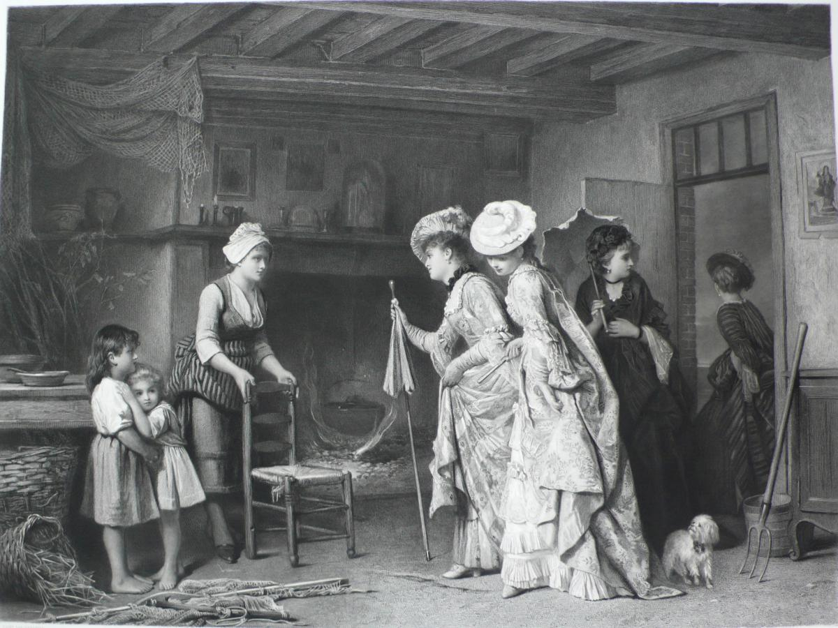 Hospitality At The Thatched Cottage After Charles Baugniet Dated 1886