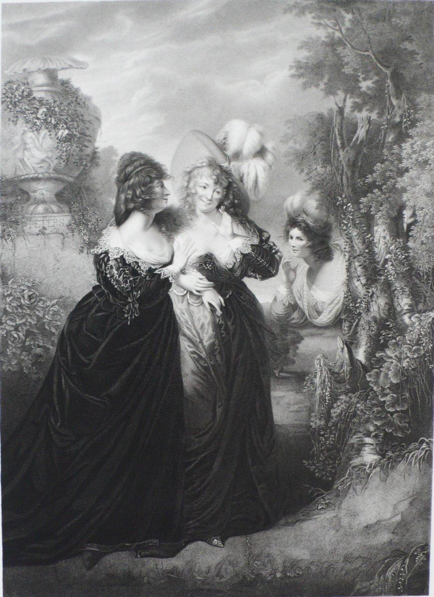Paire de gravures théâtre Shakespeare d'après William Peters