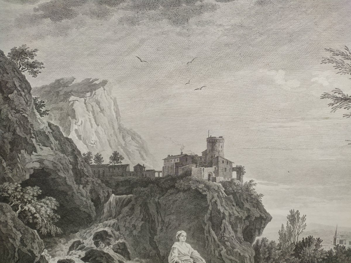 Seascape Engraving After Vernet Day Fishing 19th C-photo-6