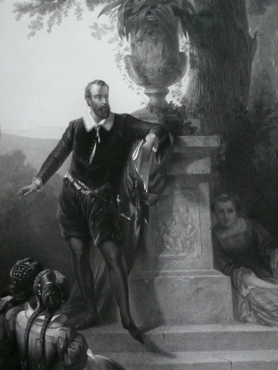 Grande Gravure Historique 19ème-photo-1