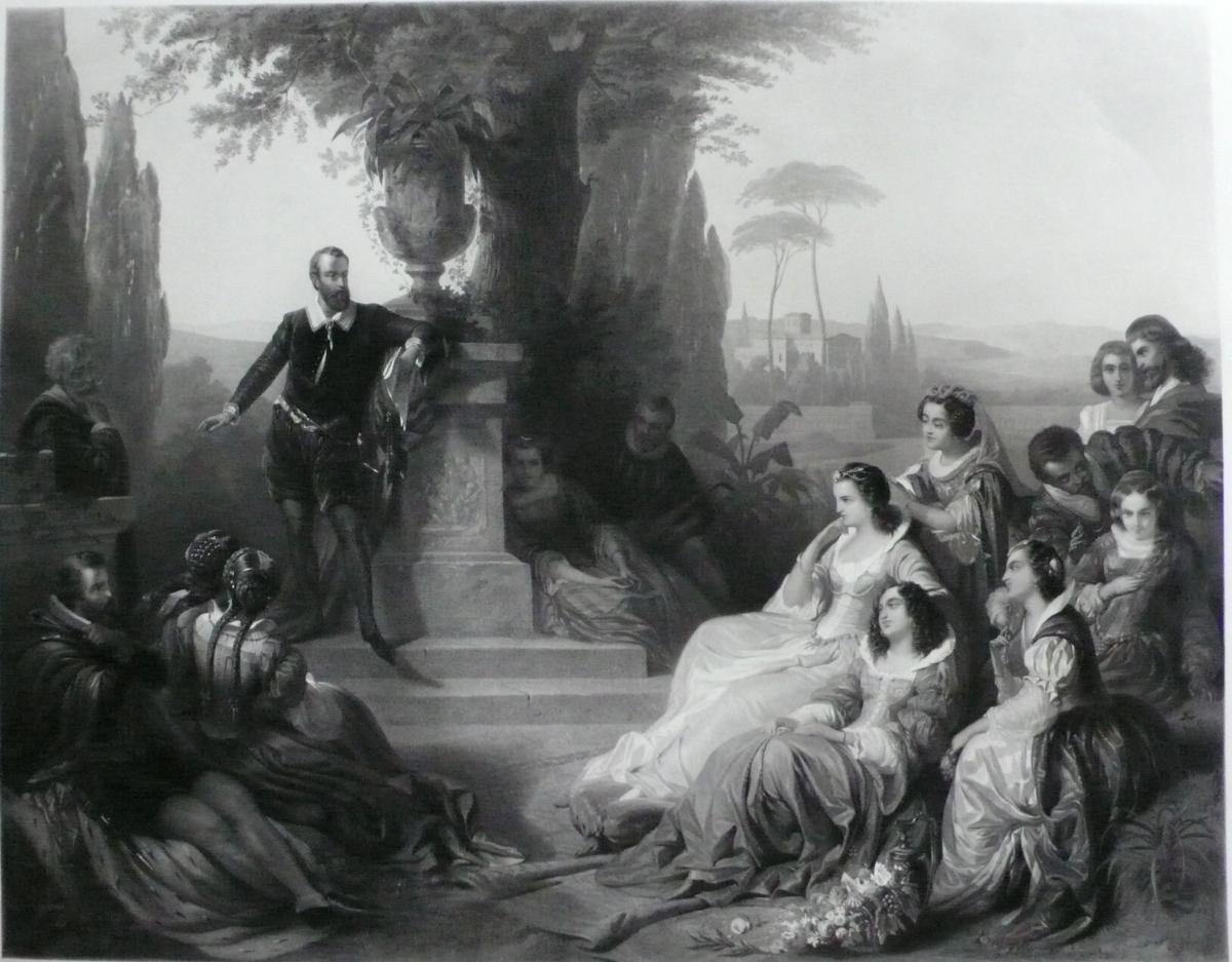Grande Gravure Historique 19ème