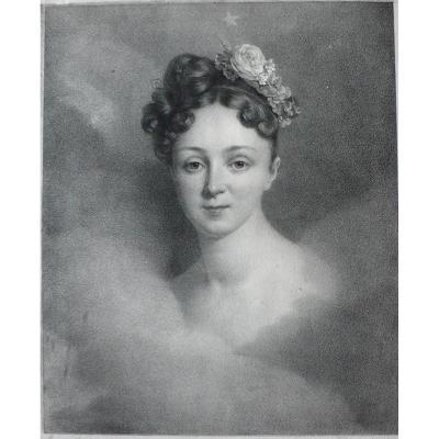 Grévedon : Mlle Bourgoin, Lithographie De Engelmann