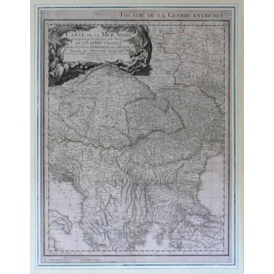 Carte géographique Russie carte de la Mer Noire en deux parties datée 1807