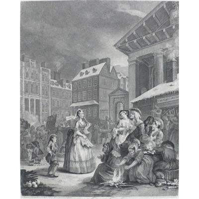 Grande gravure Morning d'après Hogarth William