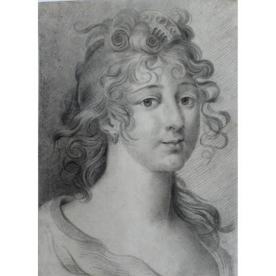 Portrait Of A Lady, Drawing, 19th C.