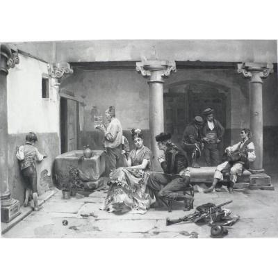 Photogravure After Jules Worms Every Age Has Its Pleasures Dated 1879