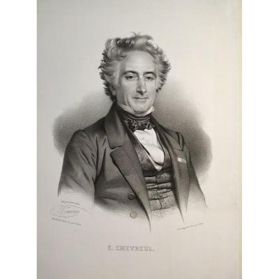 Portrait Of Michel-eugène Chevreul Drawn By Maurin And Lithographed By Grégoire And  Deneux