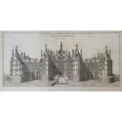 18th Century, Architecture Landscape Of French Castle Chambord,