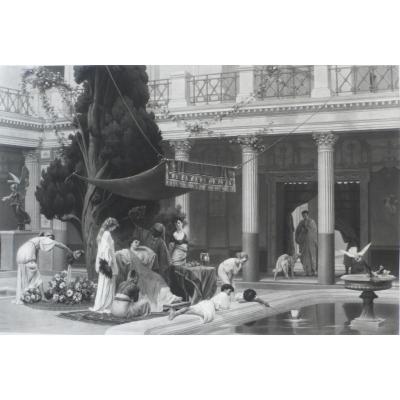 Grande Gravure Le Gynécée d'Après Gustave Boulanger Grèce Antique