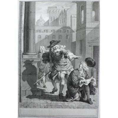 18th Engraving After Oil Painting By Tonnay