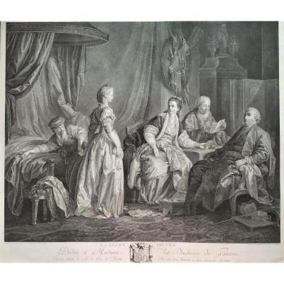 18th C Romantic Engraving The Useless Lesson Engraved In 1781 By Helman After Leprince