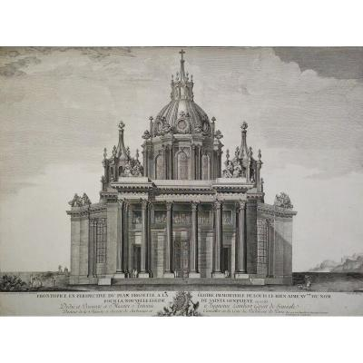 18th Century Architecture Engraving Pantheon Project