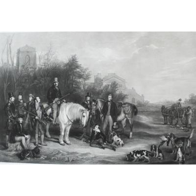 19th Hunting Engraving After English Painting By William Henry Simmons
