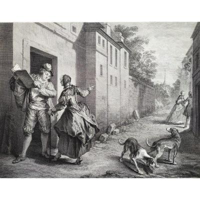We Never Know Everything, Engraving By De Larmessin After Lancret