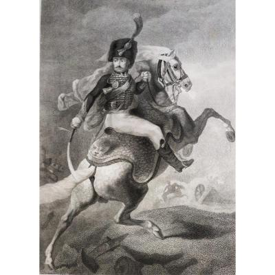 Rider On His  Horse After Painting By Théodore Géricault