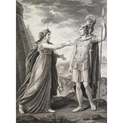 Gravure Mythologique Ariane et Alexandre d'Après Gérard