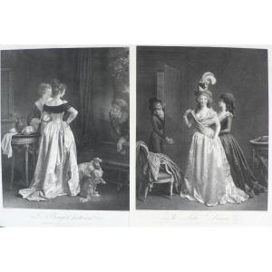Paire Of Etchings 19th C