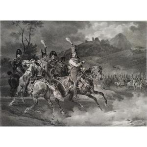 The Duke Of Orleans Lithograph 19th Century After Horace Vernet Chevaux Militaria