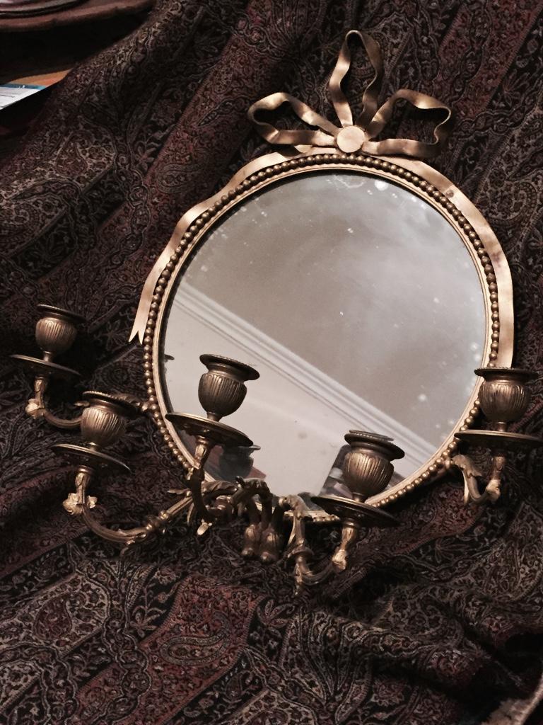 Miroir En Bronze à Cinq Bras De Lumière De Style Louis XVI